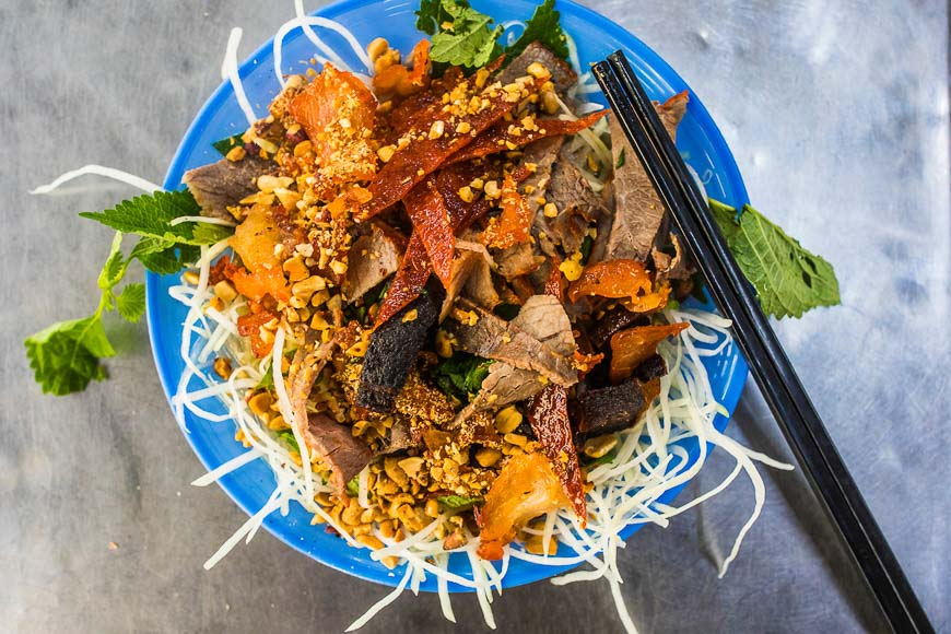 beef20jerky20salad - 10 must-try Hanoian dishes